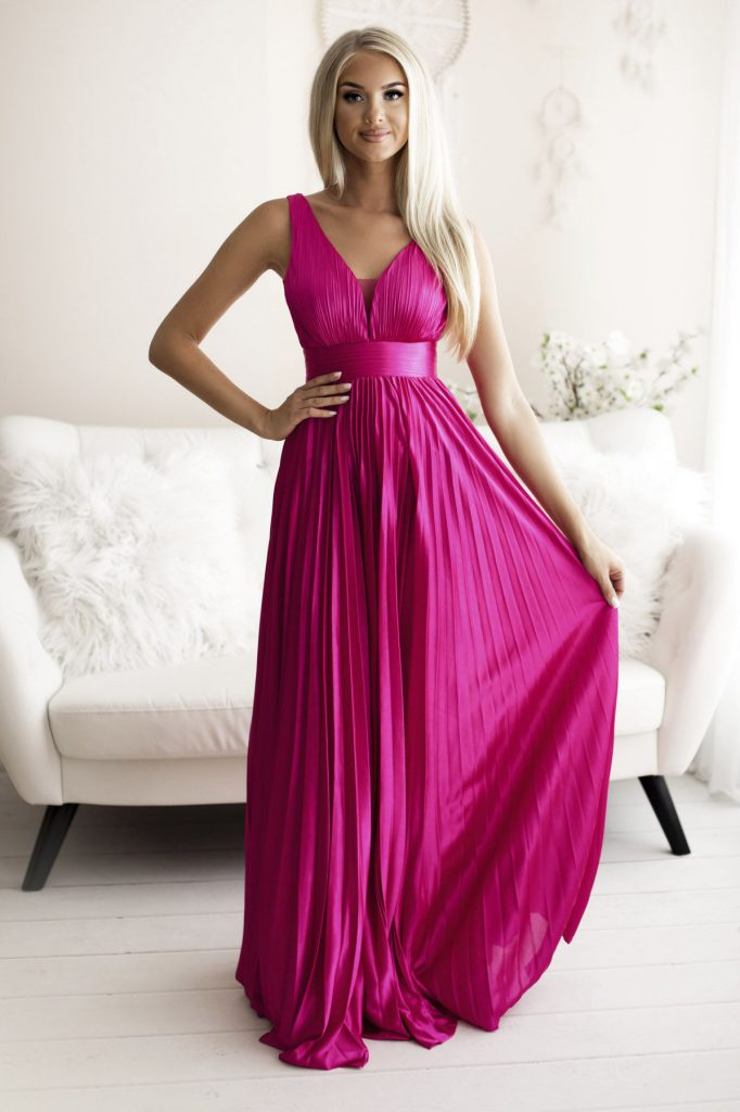 fushia pink bridesmaid dress