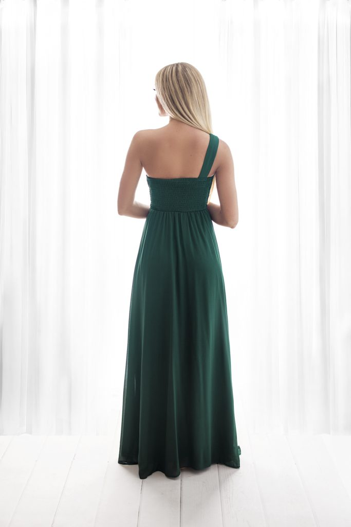 long green bridesmaid dress