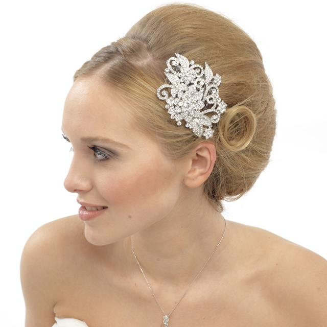Claire Crystal bridal hair comb, Crystal Wedding Comb