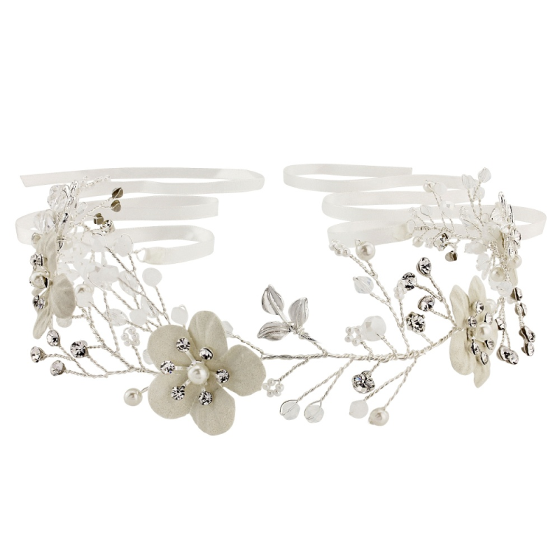 crystal bridal hair vine, wedding headpiece