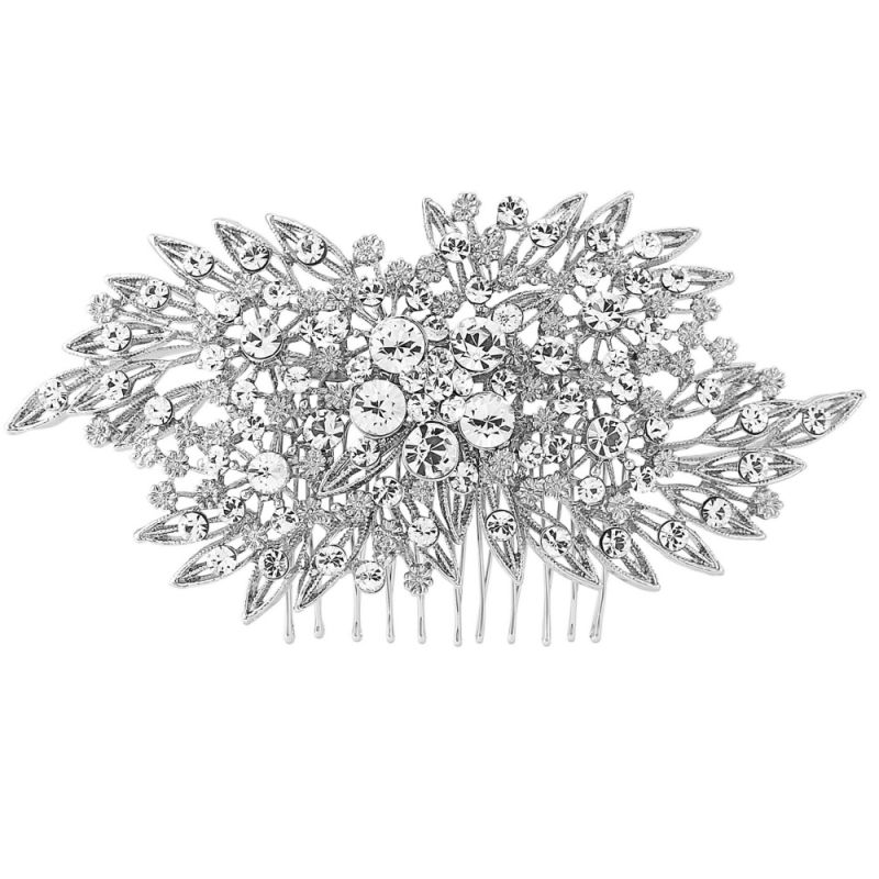 Swarovski crystal bridal hair comb, wedding headpiece
